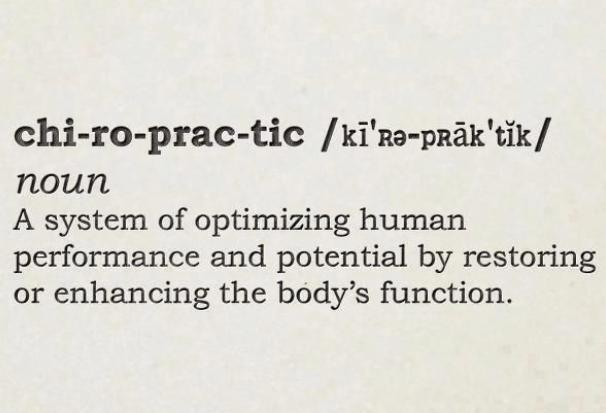 Chiropractic definition
